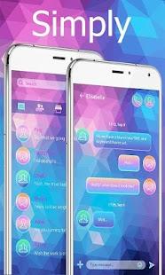(FREE) GO SMS SIMPLY THEME - náhled
