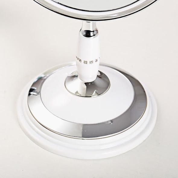 Gương trang điểm để bàn 2 mặt  xoay 360 độ