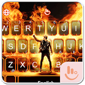 Live 3D Fire Flame Keyboard Theme