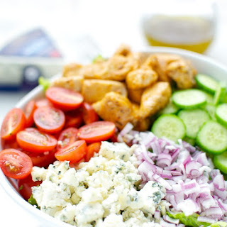 Buffalo Chicken And Blue Cheese Salad.