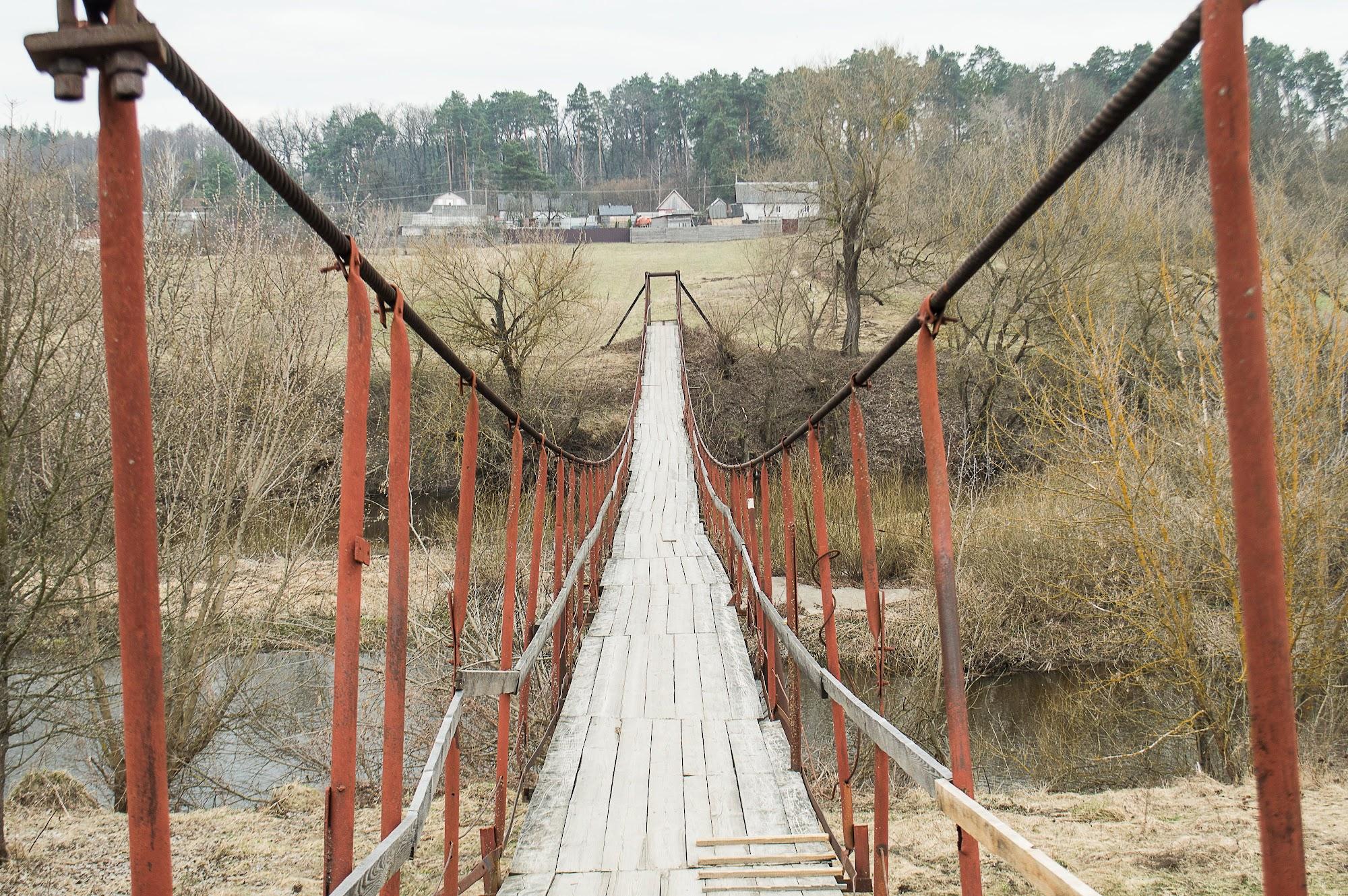Міст через річку Тетерів до села малі Кошарища