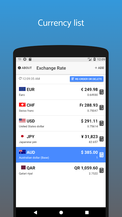 Exchange Rate Converter Live Android