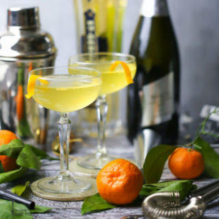 Sparkling Orange and St-Germain Cocktail.