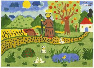 Photo: Praca konkursowa, 2001 r.  Ania, lat 13. Nagroda w kat. wiek. klas 4 - 6. II miejsce.