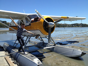Photo: Brock and the seaplane