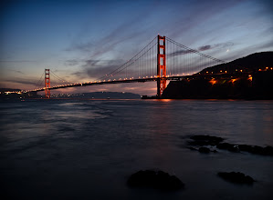 Photo: Twilight  Lets change things up from the deluge of Death Valley photos. I'm inspired to do more landscapes, so after consulting with +Samir Osman, I ventured out to Fort Baker to shoot the Golden Gate.  For a first effort to shoot the bridge at night, not bad. -- I'll be out there again soon since I learned quite a few things on this first outing.  Enjoy.