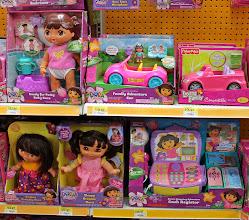 Photo: Dora the Explorer dolls...