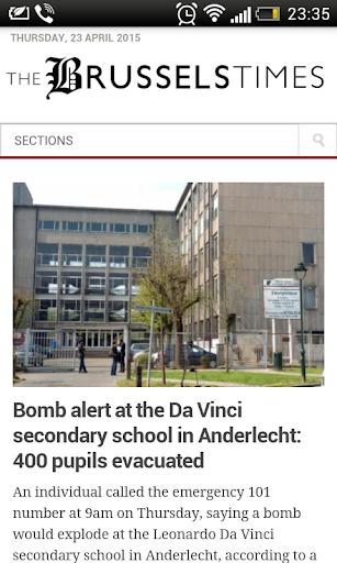 ベルギーの新聞