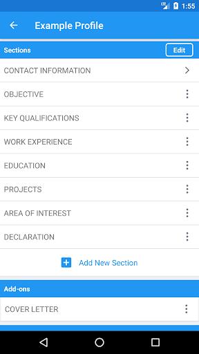 Resume Builder Free, CV Maker & Resume Templates screenshot