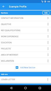 Resume Builder Pro, 5 Minutes CV Maker & Templates - náhled