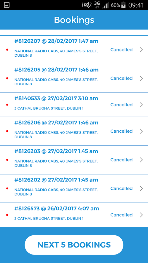 NRC Taxis- screenshot