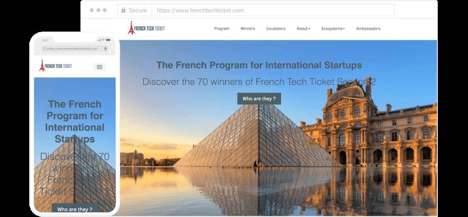 """Site internet créé par """"French Tech"""""""