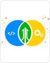 Illustration conceptuelle de l'organisation DevOps avec des cercles de Venn