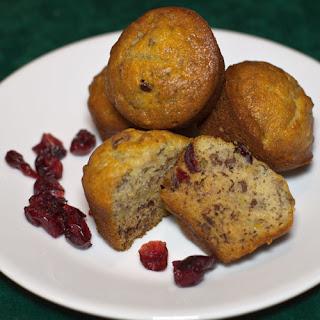 Banana Craisin Mini Muffins.