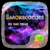 (FREE)GO SMS SMOKECOLORS THEME