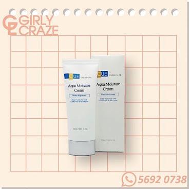 Cue Aqua Moisture Cream 高效補濕修護霜  功效 : - 有效為醫學療程後而使用的高度保濕修護霜 - 高效修復乾性及敏感性之受損肌膚的功能 - 有效緊緻肌膚,助肌膚回復彈性 - 不會阻塞毛孔非常溫和、保濕及柔軟,具瞬間揮發性形成薄膜在皮膚上,能創造肌膚絲絨般的柔細觸感,協助著妝創造粉質感,敏感肌膚也適用  主要成份 : 車前葉藍薊籽油 - 抗敏、舒緩肌膚 海藻糖 - 平衡皮膚脂質系統的結構,提升皮膚從環境中吸附水分的天然能力 倒地鈴花萃取物 - 預防黑色素、光澤、細緻 向日葵籽油 - 能強化肌膚的防護層 泛醇 – 幫助受損皮膚細胞吸收水分和養分,增強肌膚的抗敏能  力,時刻保持肌膚鎖水柔軟  使用方法 :  每天早、晚精華後均勻塗上  #Girly_Craze #Cue #Aqua_Moisture_Cream #Aqua #Moisture #Cream #高效補濕修護霜 #高度保濕 #修護霜 #修復 #敏感肌 #回復彈性 #緊緻 #保濕 #防護層 #鎖水柔軟 #beauty #hkbeauty #韓國品牌