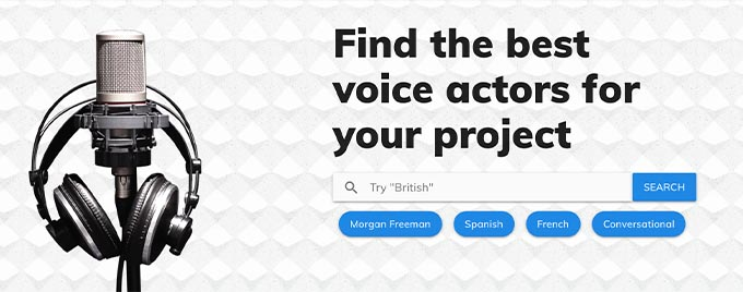 voice over website: voice123