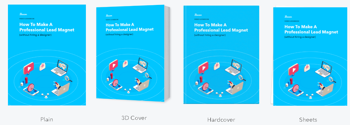 A range of different cover image formats to help draw attention to your lead magnet.