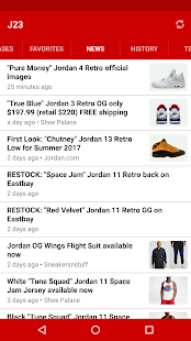 J23 - Jordan Release Dates & Restocks Screenshot