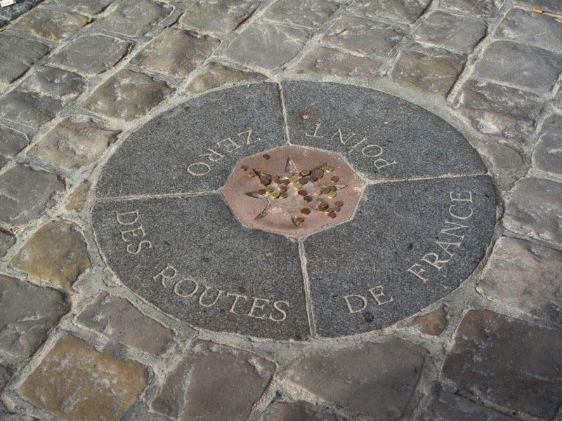 kilomètre zero Paris Cathédrale Notre Dame Paris Cariboo Tourisme