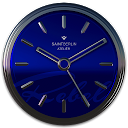 Blue Rebel HD Analog Clock Widget