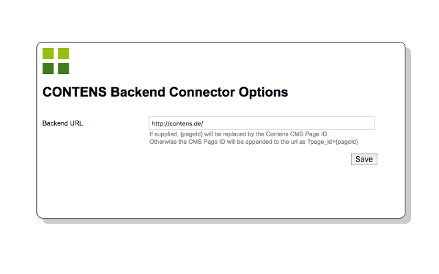 Contens Backend Connector