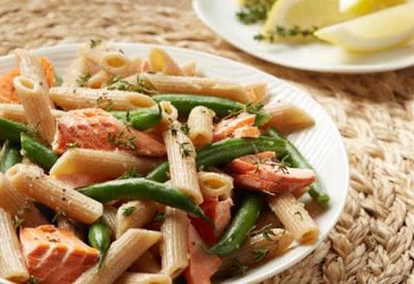 Alaska Salmon Penne With Green Beans And Vinaigret Recipe