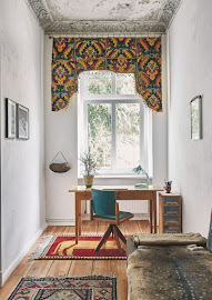 Rugs add character and warmth to the study.