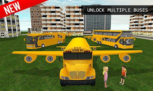 3D Flying School Bus Simulator - náhled