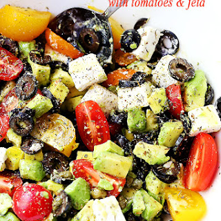 Avocado Tomato And Feta Cheese Salad Recipes