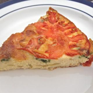 Spinach, Tomato and Brie Crustless Quiche