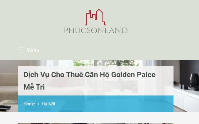 Dịch vụ cho thuê căn hộ Golden Palace Mễ Trì