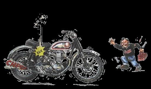 Moto anglaise classique présentée par Machines et Moteurs
