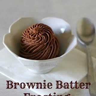 Brownie Batter Frosting.