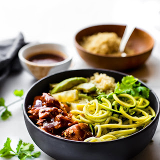 Honey BBQ Baked Salmon Bowls {Meal Prep Recipe, Gluten Free, Dairy Free}.
