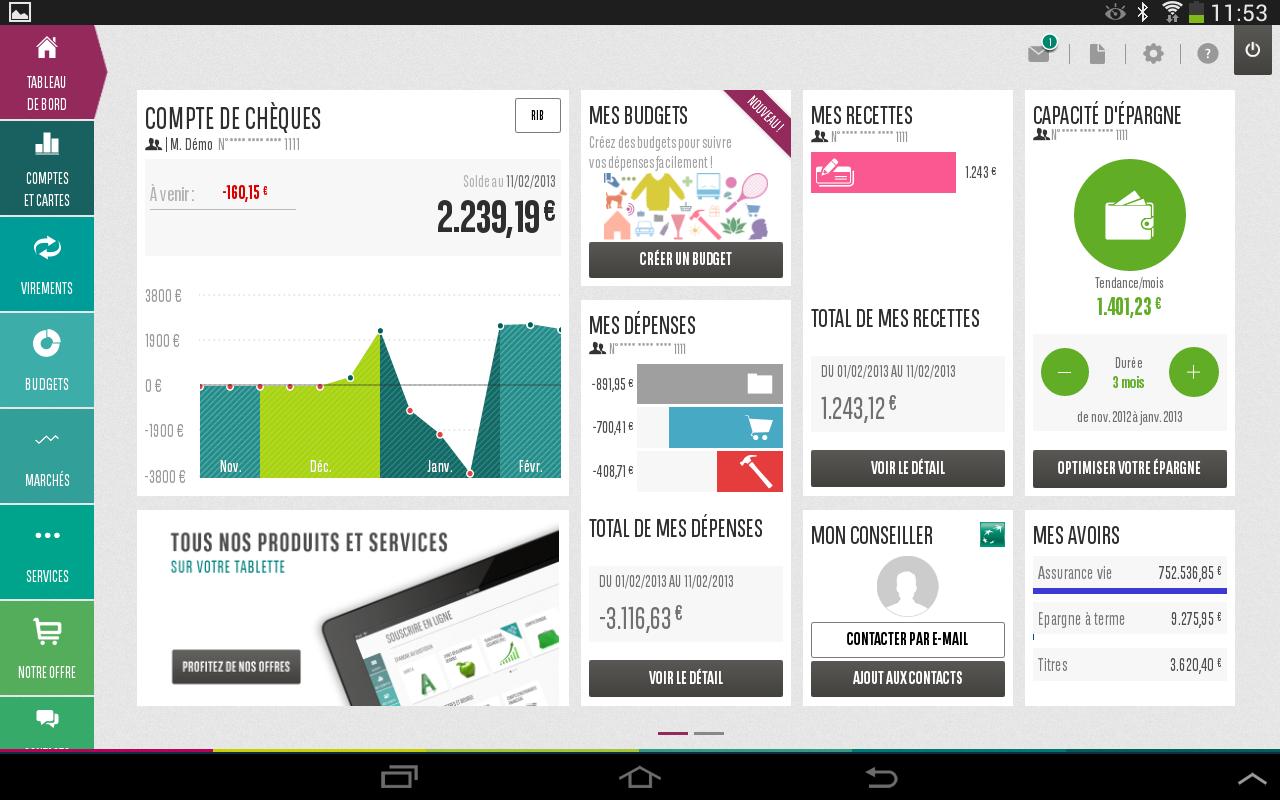 mes comptes bnp paribas applications android sur google play. Black Bedroom Furniture Sets. Home Design Ideas