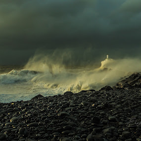 Angry sea by Elaine Delworth - Landscapes Waterscapes ( clouds, stormy, clouds and sea, sea, beach, seascape,  )