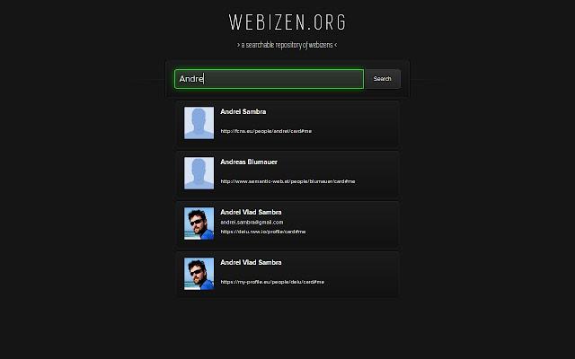 Webizen - a WebID Search Engine