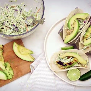 Grilled Cod and Avocado Tacos.