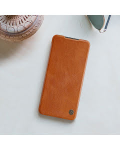 Nillkin QIN Smartcase in genuine Leather for Redmi Note 8 Pro - Brown