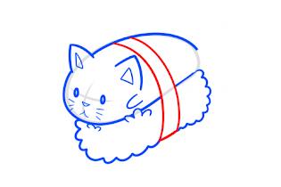 How to draw Sushi Cat - screenshot thumbnail 03