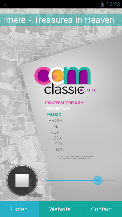 CCM Classic Radio- screenshot
