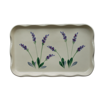Arousing Appetites Ceramic Frilly Tray with Scalloped Edges