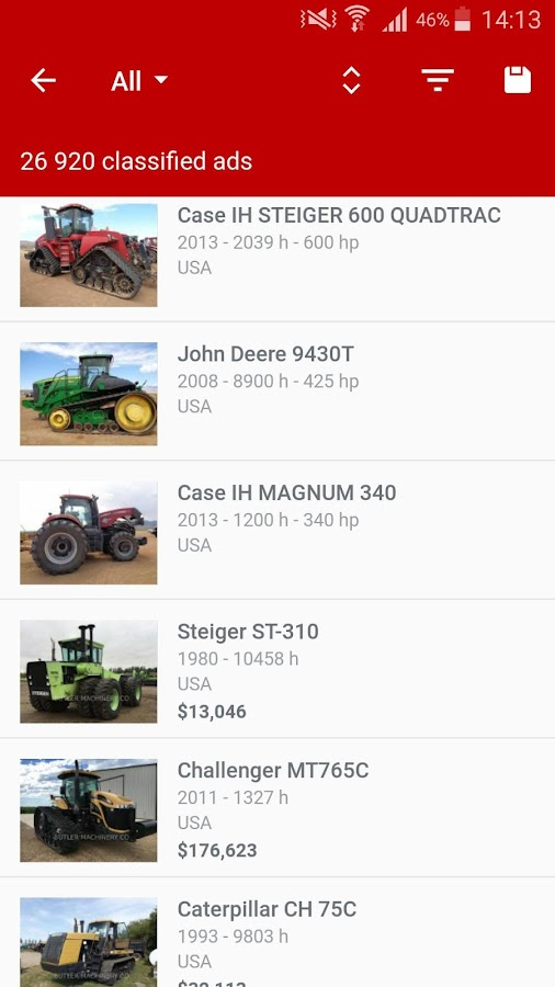 Agriaffaires farm equipment- screenshot