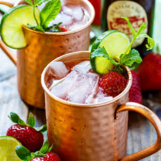 Strawberry Moscow Mule.