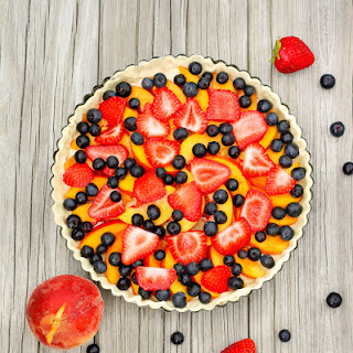 Classic Peach Tart with Summer Berries