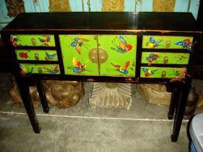 Photo: F 001 Small Hand Painted Butterfly Cabinet Special Sale $300
