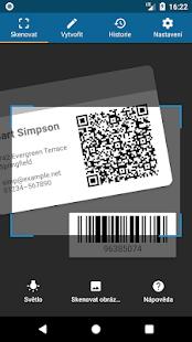 Čtečka QR kódů - náhled