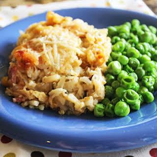 Cheesy Ham, Chicken and Wild Rice Casserole.