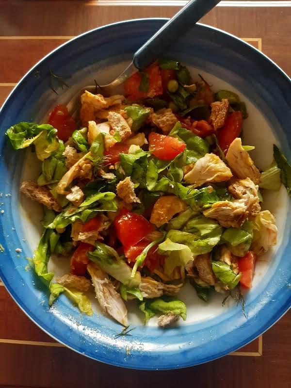 Simon's Salad Made Into A Meal